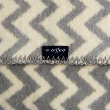 Одеяло 100% памук 75/100см сиво/бежово вълни ZigZag
